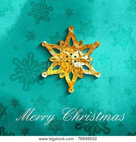 vector illustration of Christmas holiday background with golden