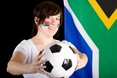 Young South Africa Supporter Holds Football Ball