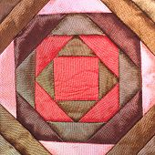 image of nomads  - Colorful thai handcraft peruvian style rug surface close up - JPG
