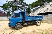 image of dumper  - dumper truck on construction site - JPG