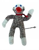 foto of sock-monkey  - Sock Monkey Ornament Toy - JPG