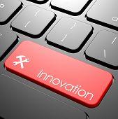 foto of keyboard  - Innovation keyboard image with hi - JPG