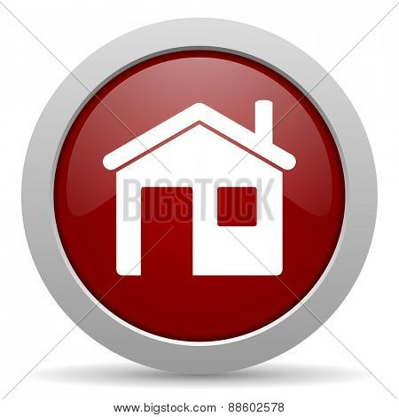 house red glossy web icon