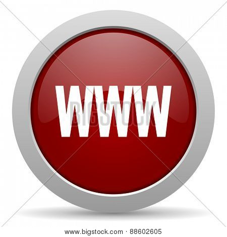 www red glossy web icon