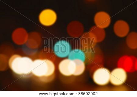 Colourful defocused lights useful as a background. Good for website designs or texture