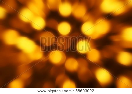 Gold defocused lights useful as a background. Good for website designs or texture.