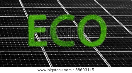 Solar panels background