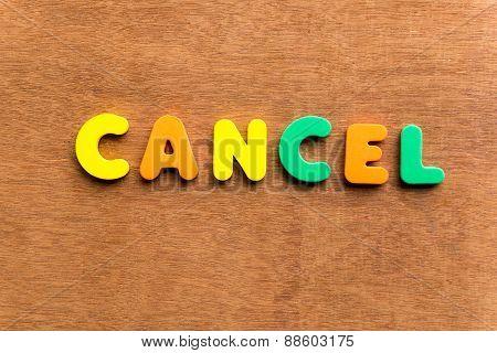 Cancel
