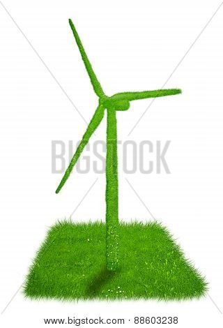 Wind turbine made out of grass