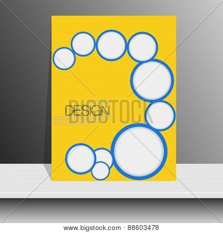 Professional flyer template or corporate banner design  for publishing, print and presentation. Vect