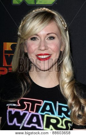 LOS ANGELES - FEB 18:  Ashley Eckstein at the Global Premiere of