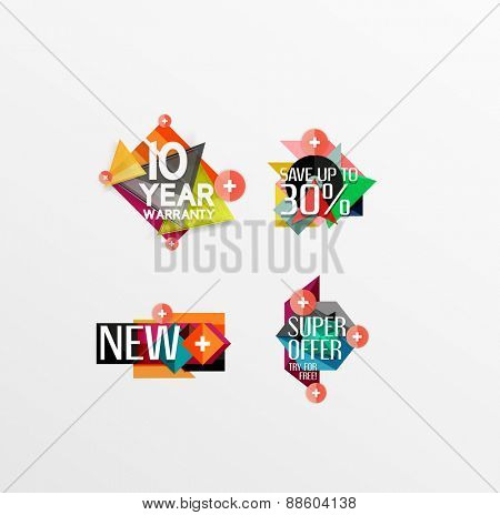 Set of labels, stickers, banners, badges and elements for sale. Vector illustration