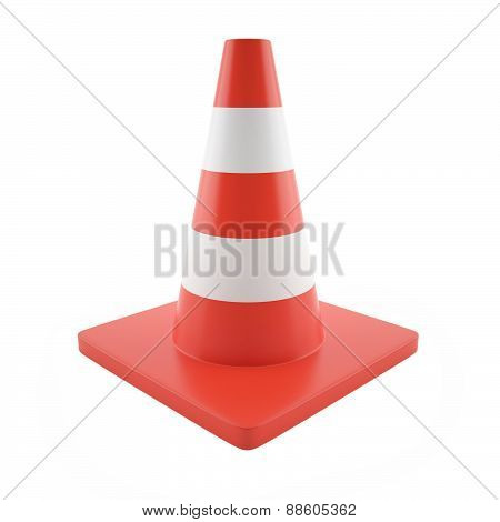 Illustration cone road sign