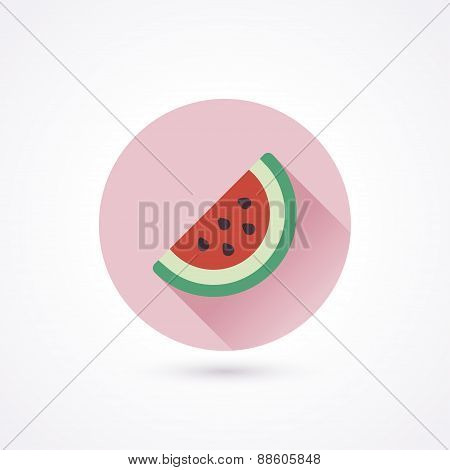 Flat Icon. Watermelon
