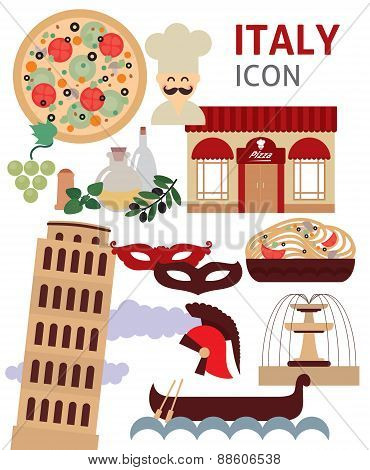 Italy vector symbols and icon