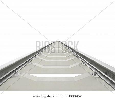 Illustration railway aspiring forward isolated on white background.