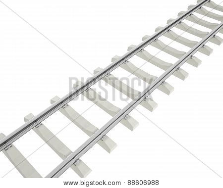 Illustration railway isolated on white background.