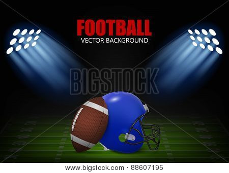 Vector Football Background