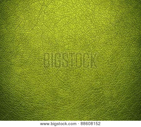 Acid green leather texture background
