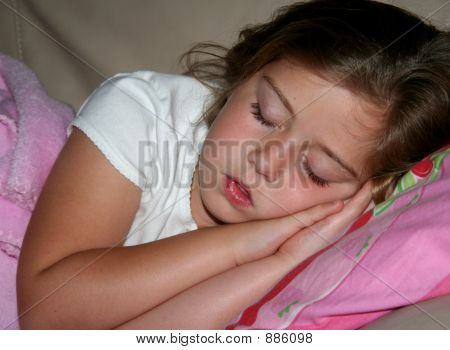 Young Girl Sound Asleep