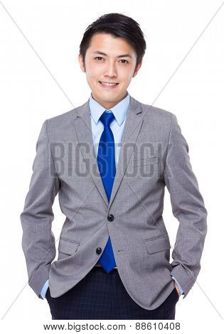 Young good looking asian business man