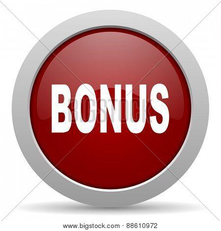 bonus red glossy web icon