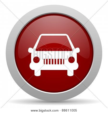 car red glossy web icon