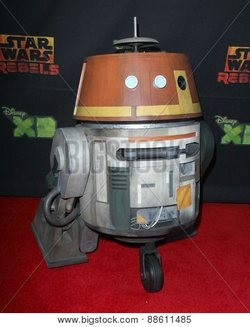 LOS ANGELES - FEB 18:  Chopper Droid at the Global Premiere of
