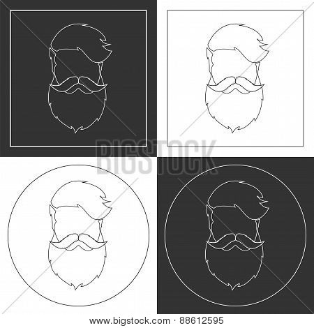 Hipster Thin Line Vector Icons.