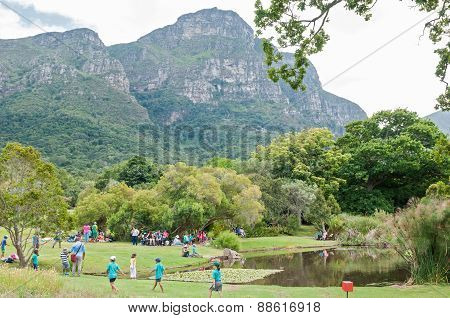 People In The Kirstenbosch National Botanical Gardens
