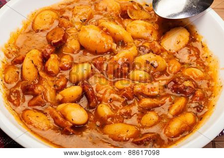 Beans With Tomato Sauce, Bacon And Sausage