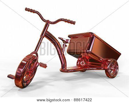 Children's Metallic Bicycle