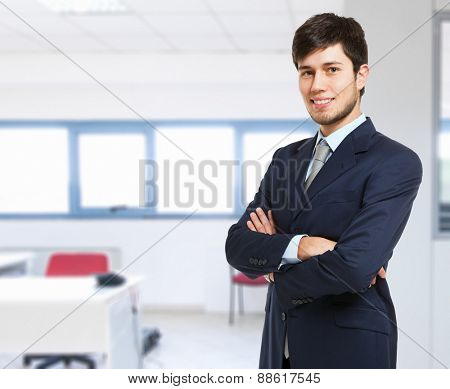 Portrait of a young smiling businessman
