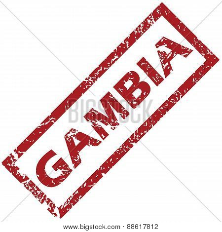 New Gambia rubber stamp