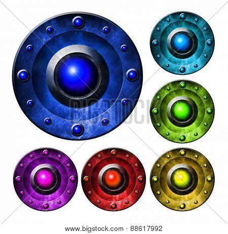 Metal color button