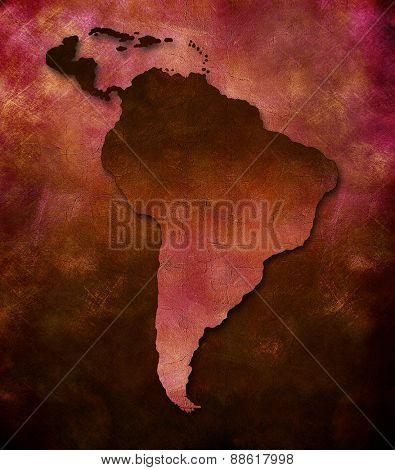 Art map - South America