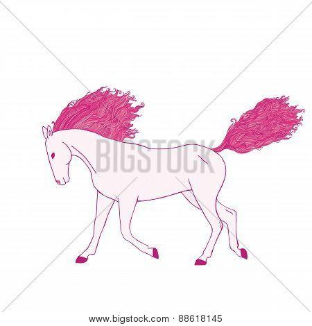 Magic pink horse.