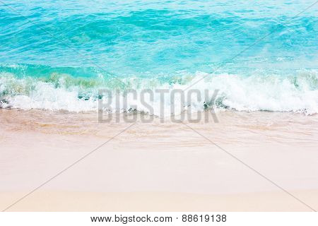Beautiful yellow sand beach and tropical sea