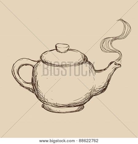 teapot drawn