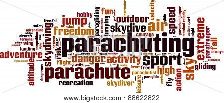 Parachuting Word Cloud