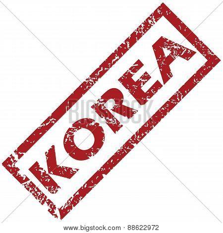 New Korea rubber stamp