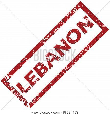 New Lebanon rubber stamp