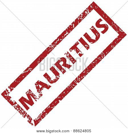 New Mauritius rubber stamp