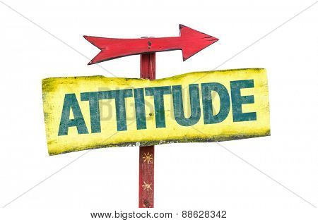 Attitude sign isolated on white