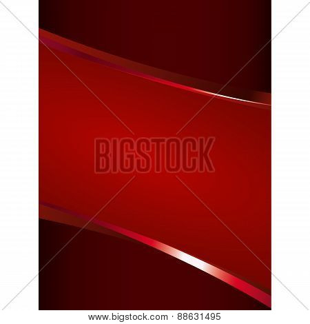 Red Background With Glossy Elements