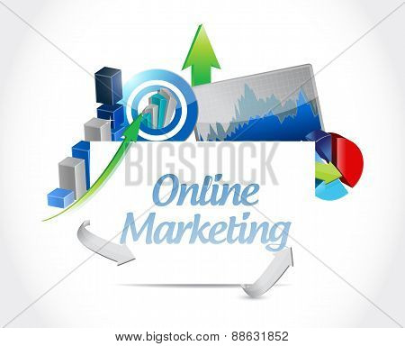 Online Marketing Business Graphs Sign