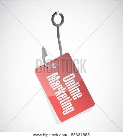 Online Marketing Hook Tag Sign