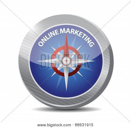 Online Marketing Compass Sign