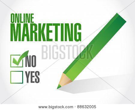 Online Marketing Negative Sign
