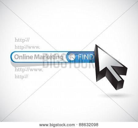 Online Marketing Search Bar Sign Illustration